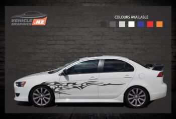 Backfire Side Stripes Car Decals