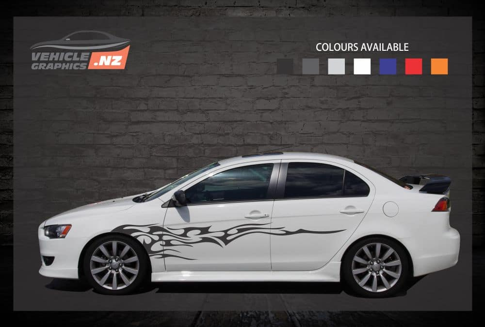 Backfire Side Stripes Car Decals