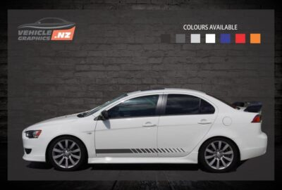 Faded Side Stripes Car Decals