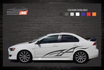 Dragon Shaped Side Stripes Car Decals