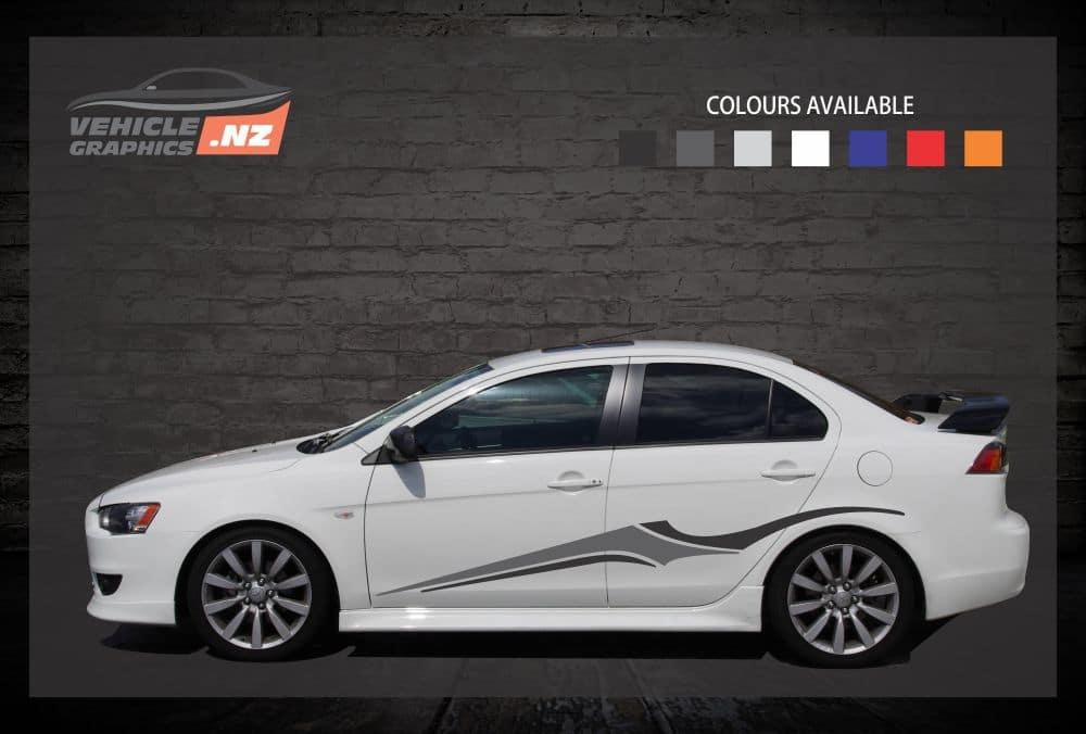 Stylish Side Stripes Car Decals