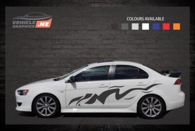 Desert Side Stripes Car Decals