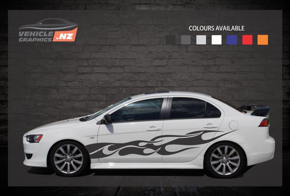 Furious Side Stripes Car Decals
