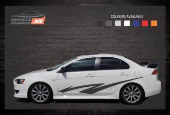 Lightening Bolt Side Stripes Car Decals