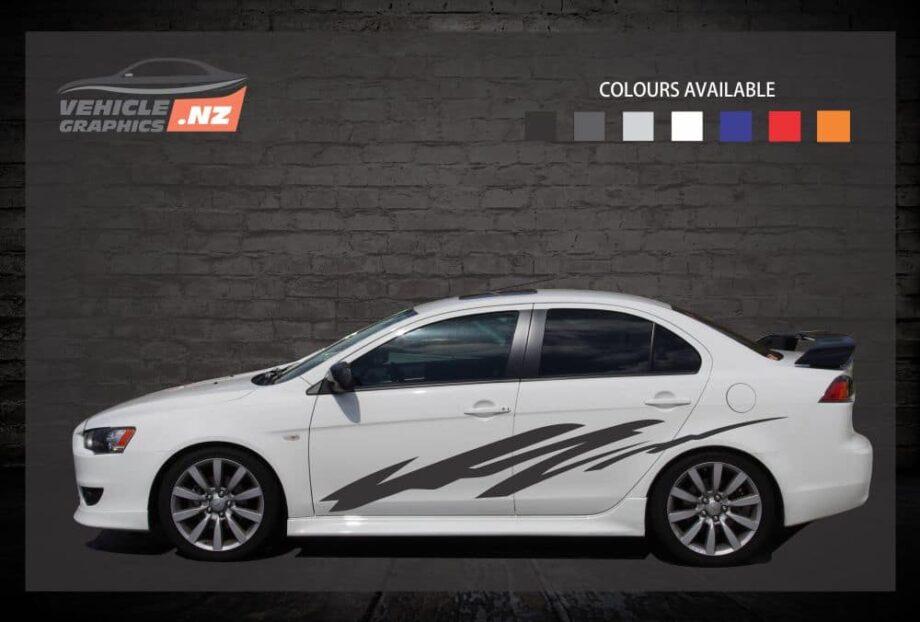 Flash Side Stripes Car Decals