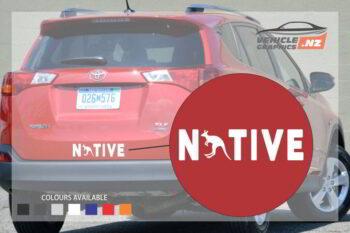 Native Australia Vehicle Decal