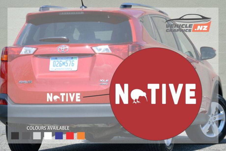 Native New Zealand Vehicle Decal