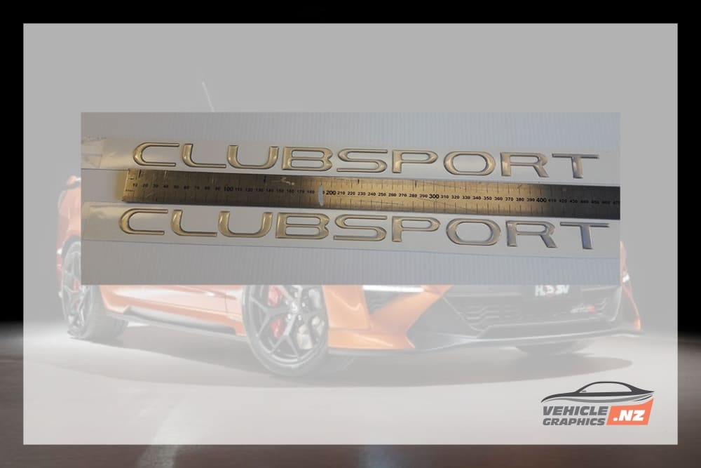 Commodore CLUBSPORT 460mm Domed Badge