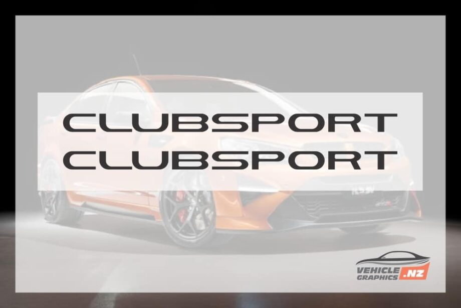 Commodore CLUBSPORT 460mm Decal