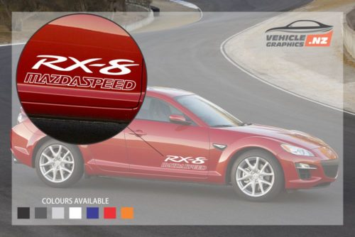 Mazda RX-8 MAZDASPEED decal