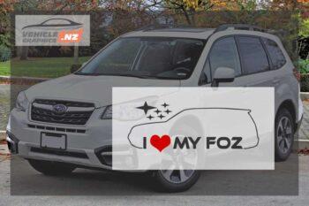 Subaru I Love My FOZ Decal