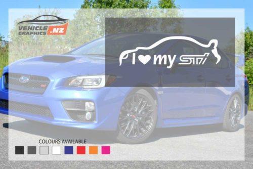 Subaru I Love My STI Decals