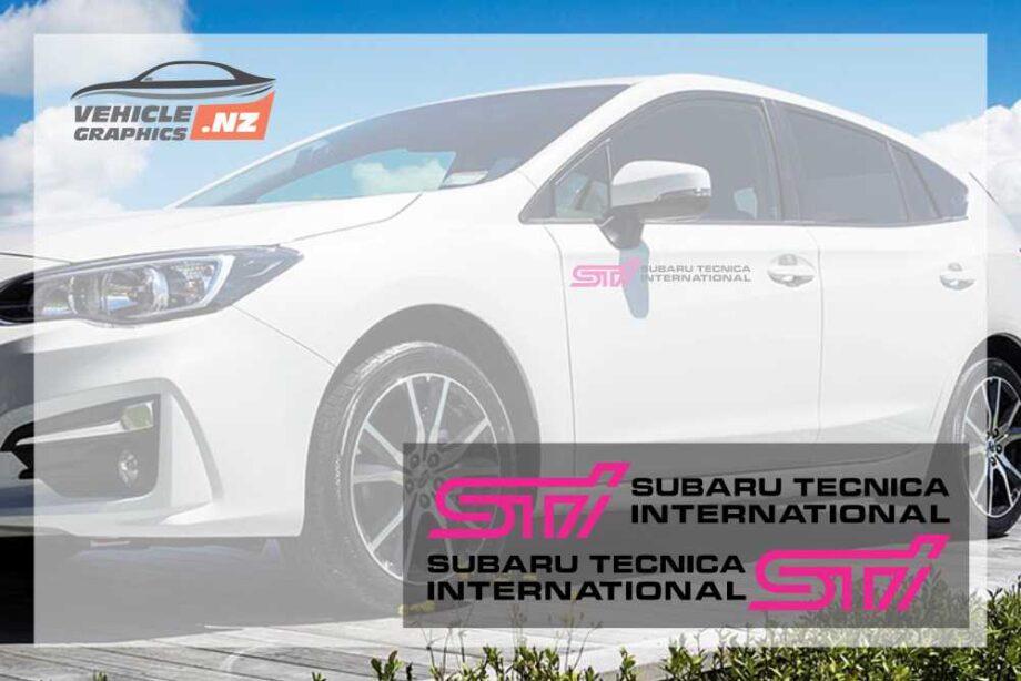 Subaru STI Front Door Decals