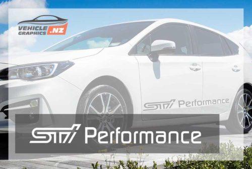 Subaru STI Performance Front Door Decals