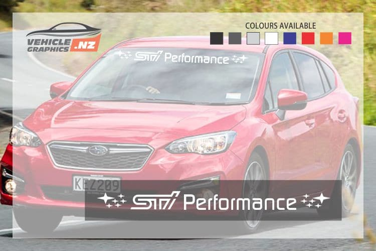 Subaru STI Performance Windshield Decal