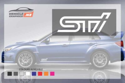 Subaru STI Side Door Decals