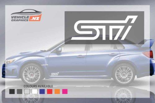 Subaru STI Side Door Decals