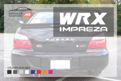 Subaru WRX IMPREZA Rear Door Decals