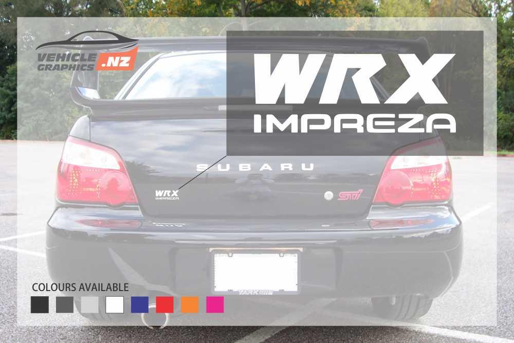 Subaru WRX IMPREZA Rear Door Decals