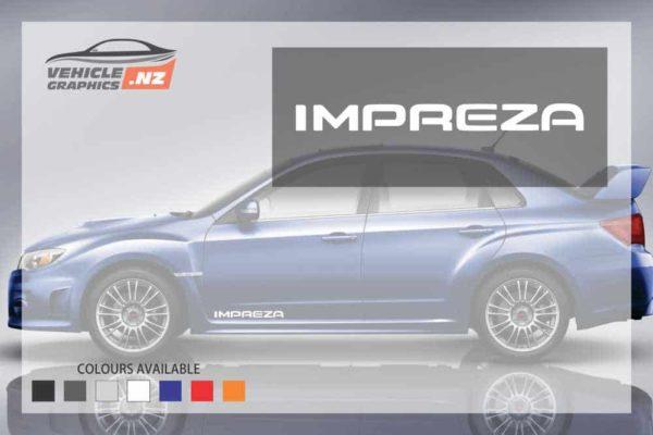 Subaru IMPREZA Side Decals