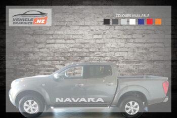 Nissan Navara Side Door Lettering Decal