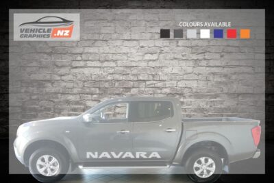 Nissan Navara Side Door Lettering Decal