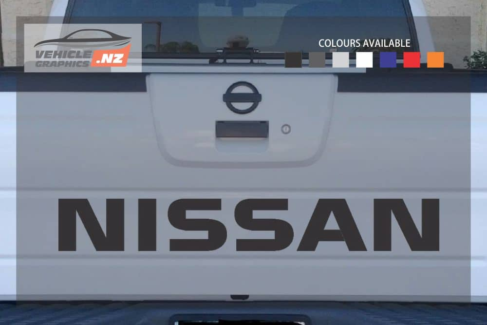 Nissan Navara Back Tailgate Lettering Decal