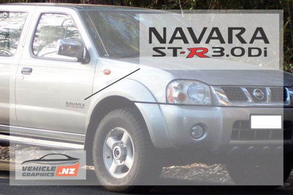 Nissan Navara ST-R 3.0Di Side Door Decal