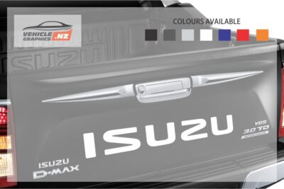 Isuzu Back Tailgate Lettering Decal