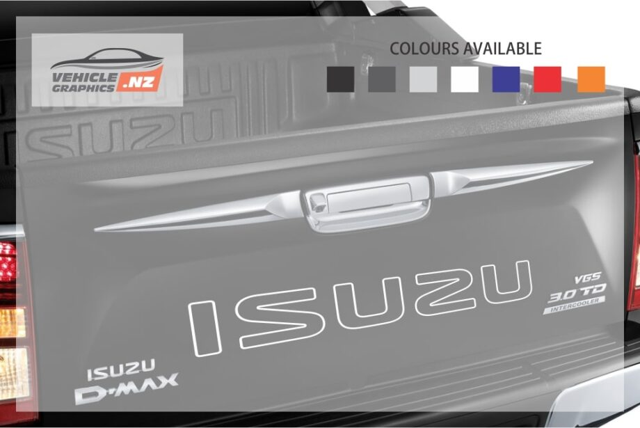 Isuzu Back Tailgate Lettering Outline Decal