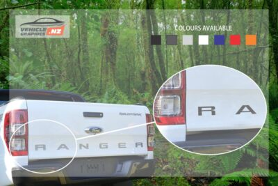 Ranger Back Tailgate Lettering Decal