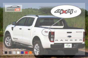 Ranger Wildtrak Rear Sides 4x4 Decal