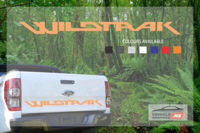 Ranger Back Tailgate Wildtrak Lettering Decal