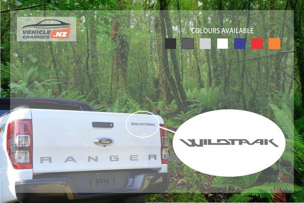Ranger Back Tailgate Wildtrak Decal