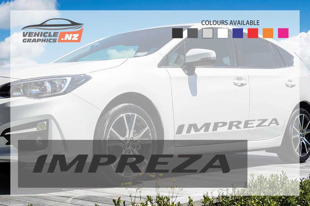 Subaru IMPREZA Side Lettering Decals