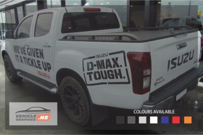 Isuzu D-MAX Tough Rear Side Decals