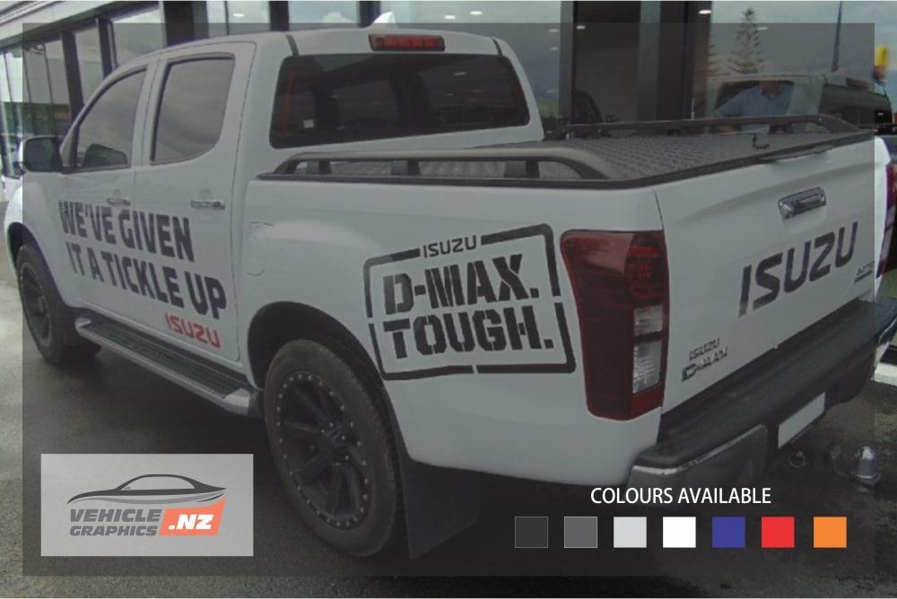 Isuzu D-MAX Tough Rear Side Decals