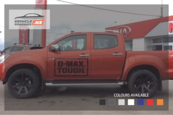 Isuzu D-MAX Tough Front Side Decals