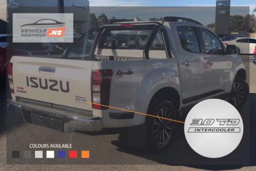 Isuzu D-MAX TD Intercooler Decal