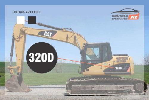 CAT Excavator 320D Decal