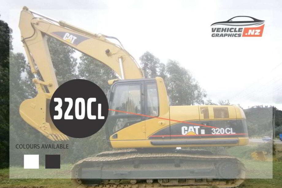 CAT Excavator 320CL Decal