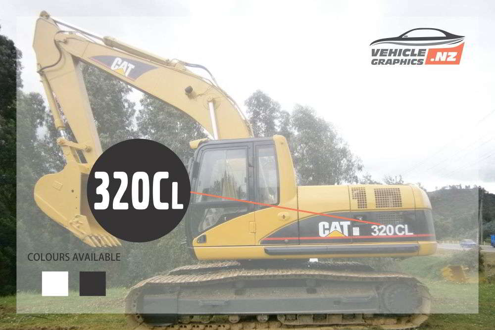 CAT Excavator 320CL Decal
