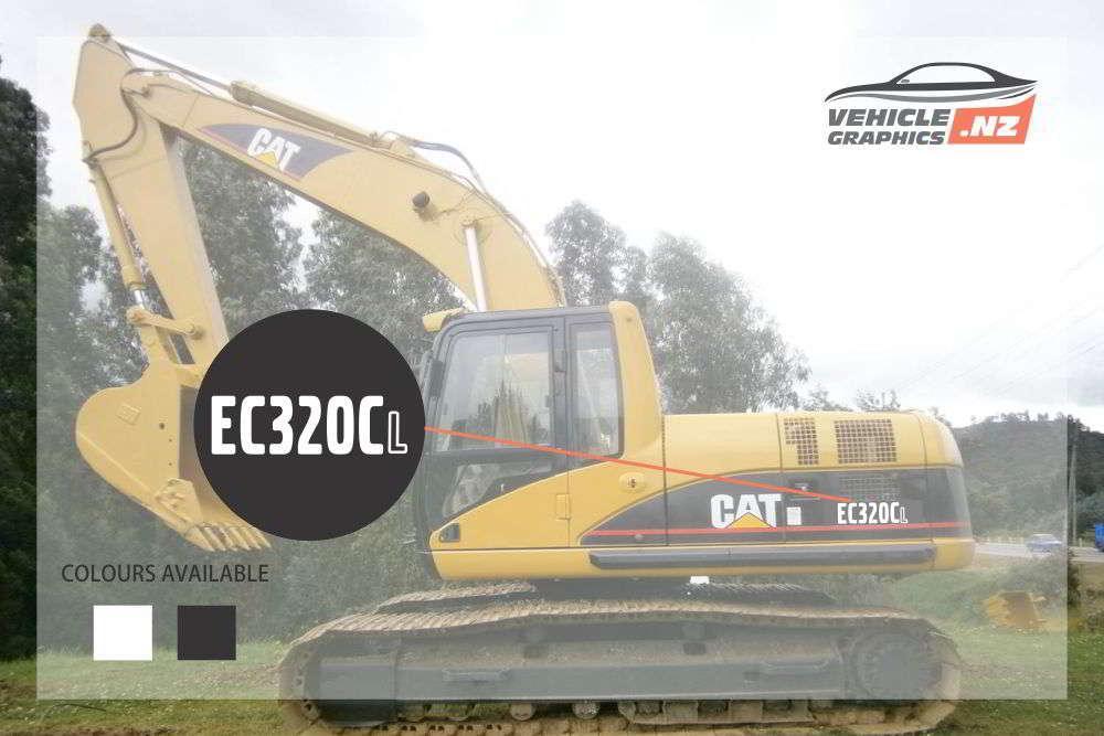 CAT Excavator EC320CL Decal