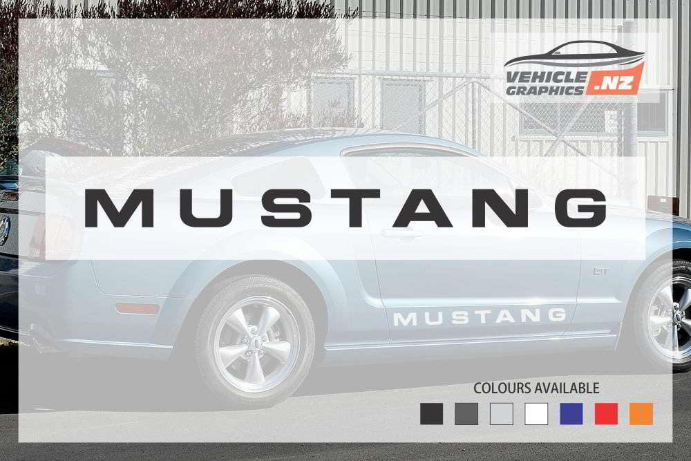 Ford Mustang Side Wording Stickers