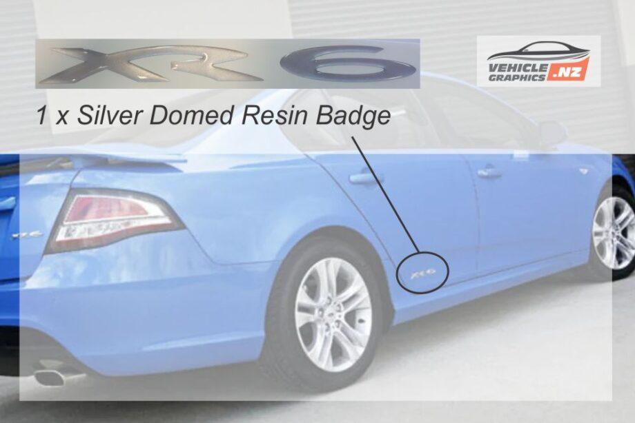 Falcon FG XR6 Resin Badge - Silver