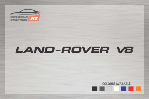 Land-Rover V8 Decal