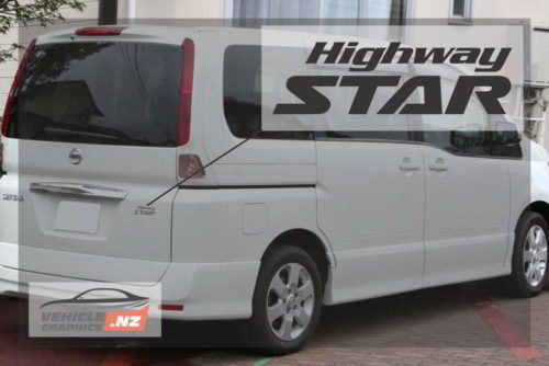 Nissan Serena Highway Star Decal