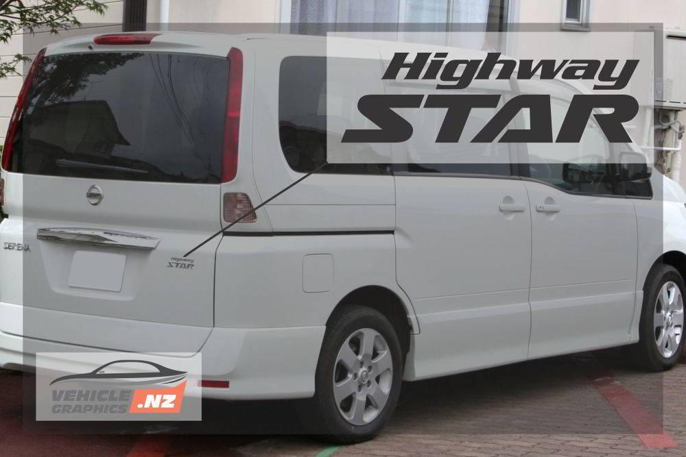 Nissan Serena Highway Star Decal