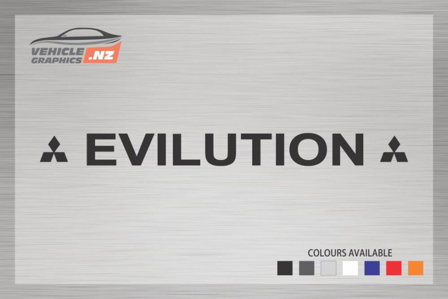 Mitsubishi Funny EVILUTION Decal