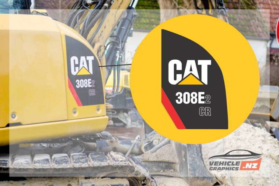 CAT 308E2 CR Side Decal Vinyl Stickers
